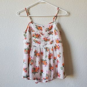 Papermoon Stitch Fix Floral Tank Top Blouse
